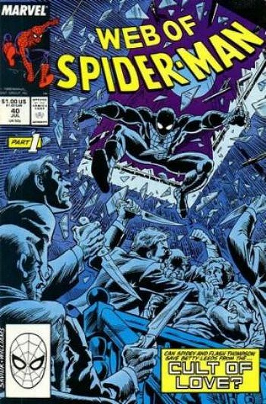 Cover of Web of Spider-Man (Vol 1) #40. One of 250,000 Vintage American Comics on sale from Krypton!