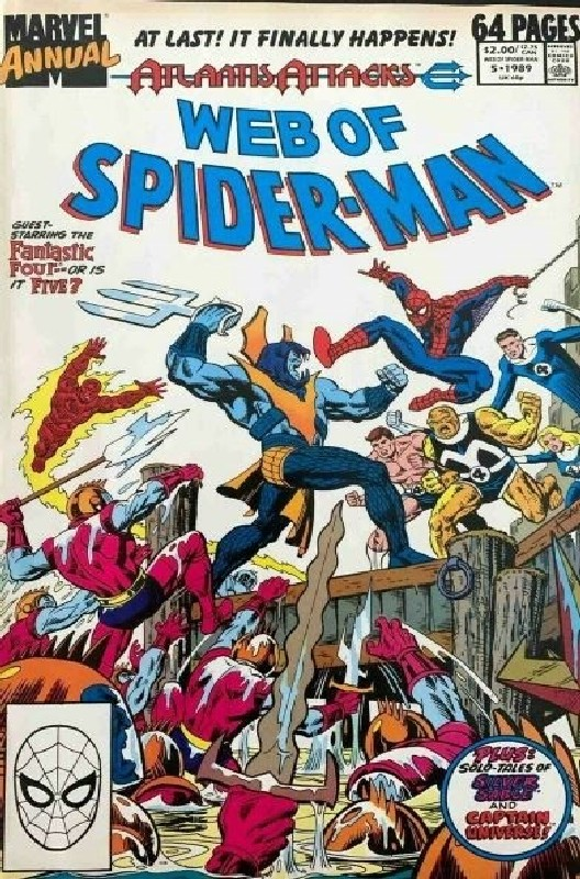 Cover of Web of Spider-Man Annual (Vol 1) #5. One of 250,000 Vintage American Comics on sale from Krypton!