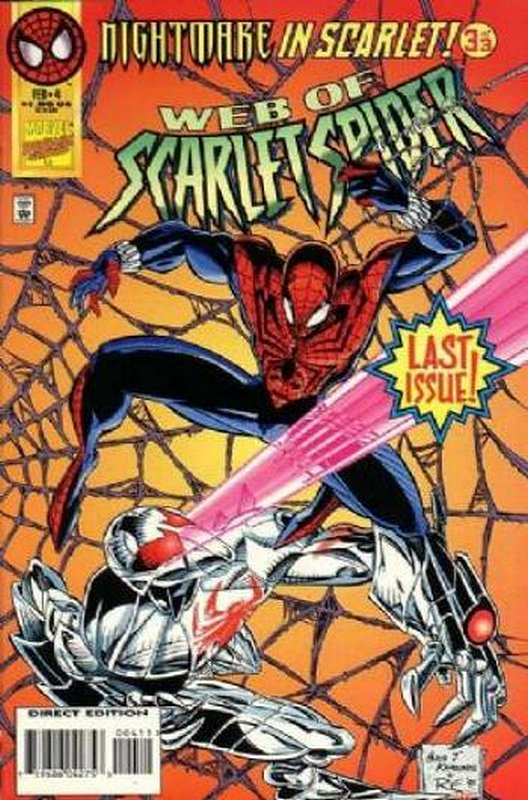 Cover of Web of Scarlet Spider (1995 Ltd) #4. One of 250,000 Vintage American Comics on sale from Krypton!