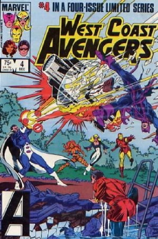 Cover of West Coast Avengers (1984 Ltd) #4. One of 250,000 Vintage American Comics on sale from Krypton!