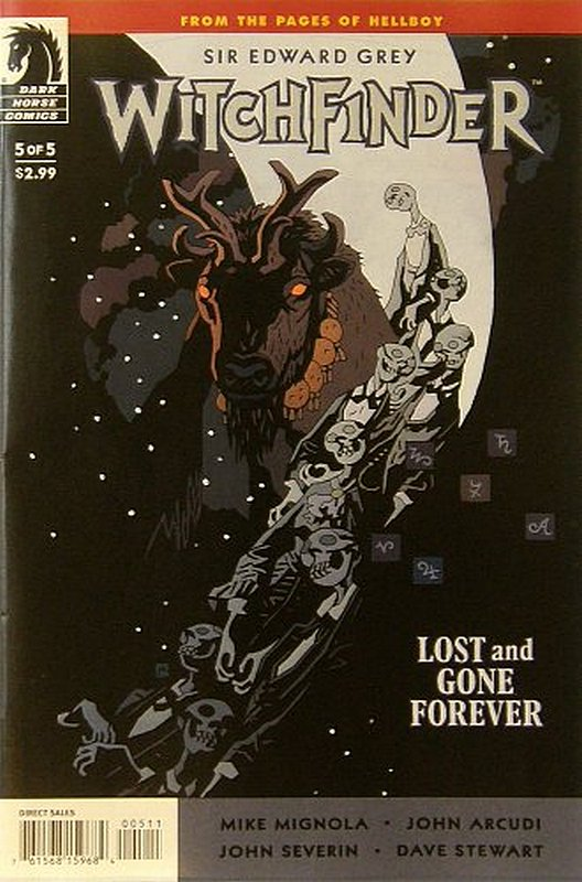 Cover of Witchfinder: Lost & Gone Forever #5. One of 250,000 Vintage American Comics on sale from Krypton!