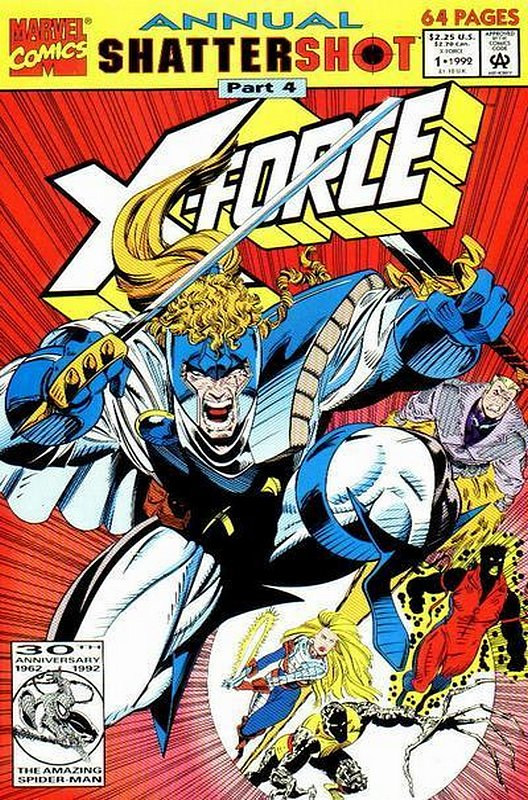Cover of X-Force (Vol 1) Annual #1. One of 250,000 Vintage American Comics on sale from Krypton!