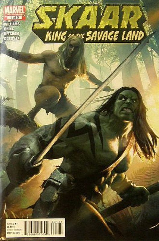 Cover of Skarr: King of the Savage Land (2011 Ltd) #1. One of 250,000 Vintage American Comics on sale from Krypton!