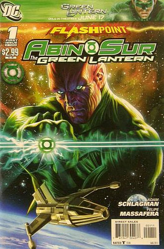 Cover of Flashpoint: Abin Sur - Green Lantern (2011 Ltd) #1. One of 250,000 Vintage American Comics on sale from Krypton!