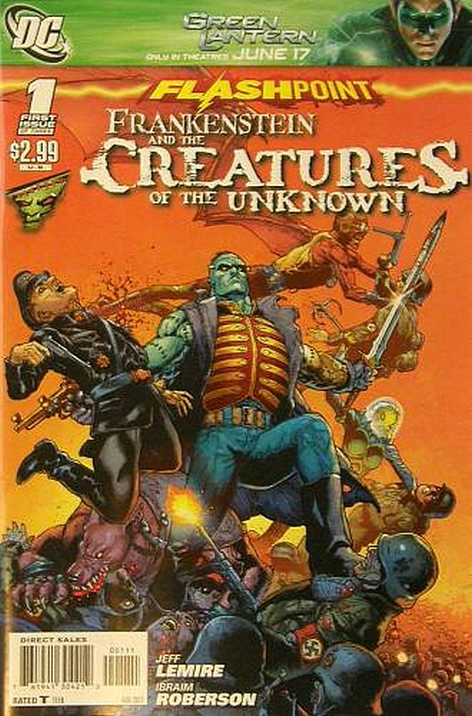 Cover of Flashpoint: Frankenstein Creatures of the Unkown #1. One of 250,000 Vintage American Comics on sale from Krypton!