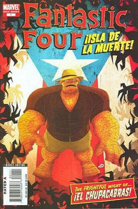 Cover of Fantastic Four: Ilsla De La Muerte (2008 One Shot) #1. One of 250,000 Vintage American Comics on sale from Krypton!