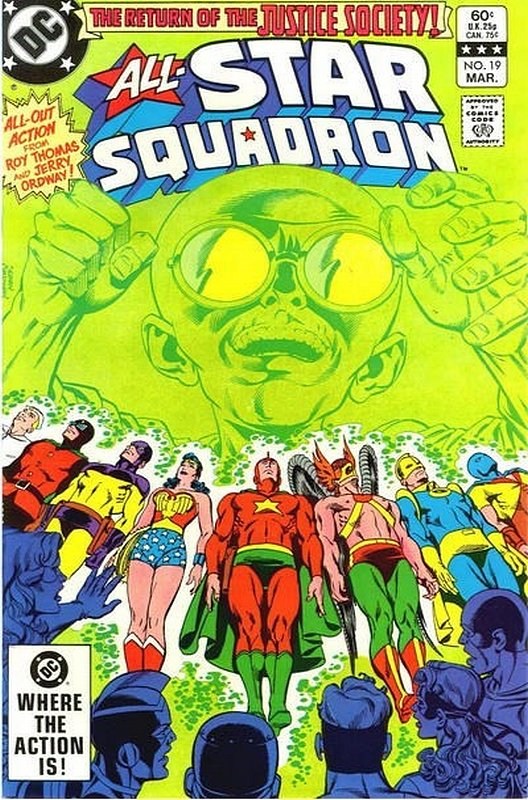 Cover of All-Star Squadron (Vol 1) #19. One of 250,000 Vintage American Comics on sale from Krypton!