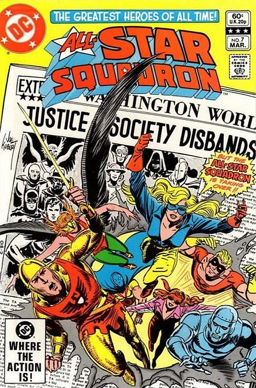 Cover of All-Star Squadron (Vol 1) #7. One of 250,000 Vintage American Comics on sale from Krypton!