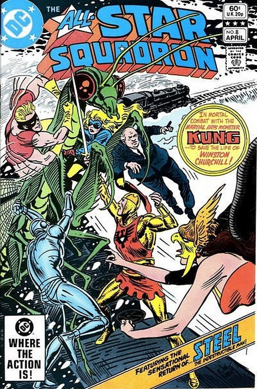 Cover of All-Star Squadron (Vol 1) #8. One of 250,000 Vintage American Comics on sale from Krypton!