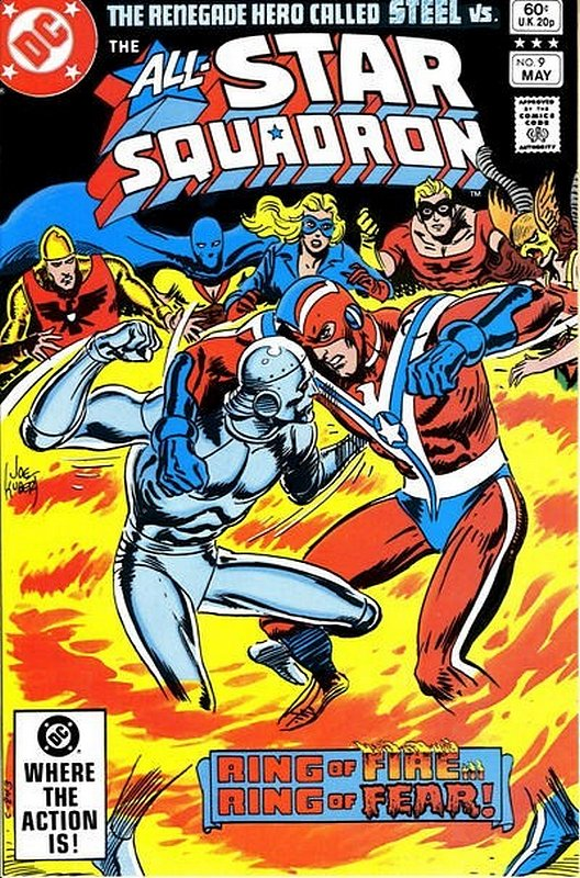 Cover of All-Star Squadron (Vol 1) #9. One of 250,000 Vintage American Comics on sale from Krypton!