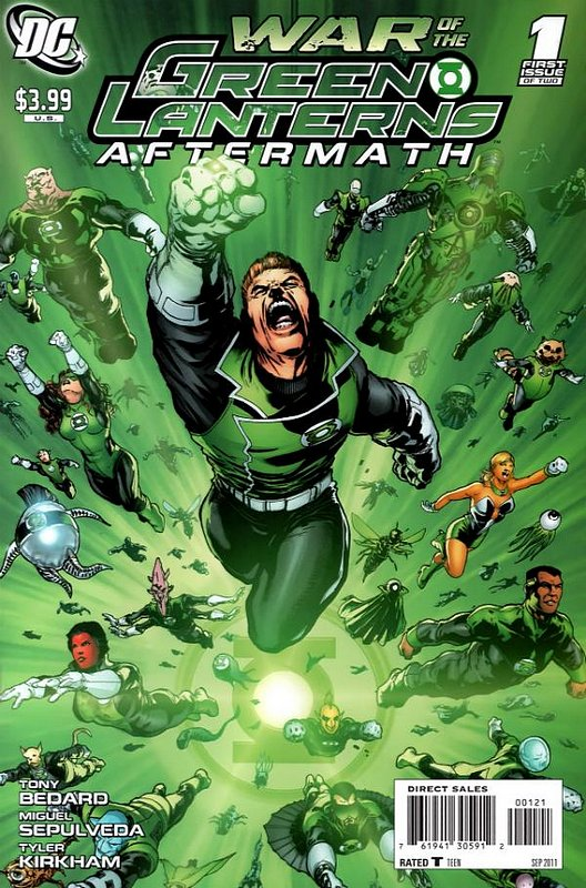 Cover of War of the Green Lanterns: Aftermath (2011 Ltd) #1. One of 250,000 Vintage American Comics on sale from Krypton!