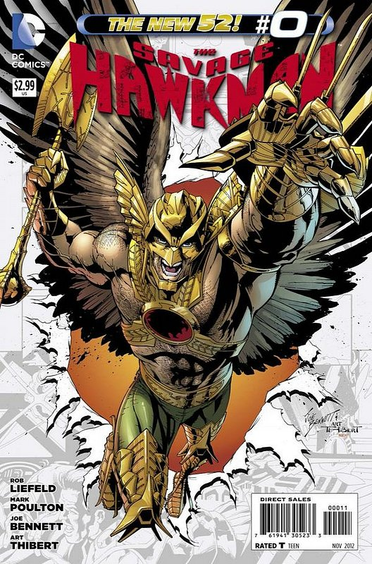 Cover of Savage Hawkman (Vol 1) #0. One of 250,000 Vintage American Comics on sale from Krypton!