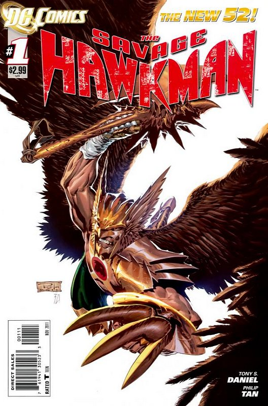 Cover of Savage Hawkman (Vol 1) #1. One of 250,000 Vintage American Comics on sale from Krypton!