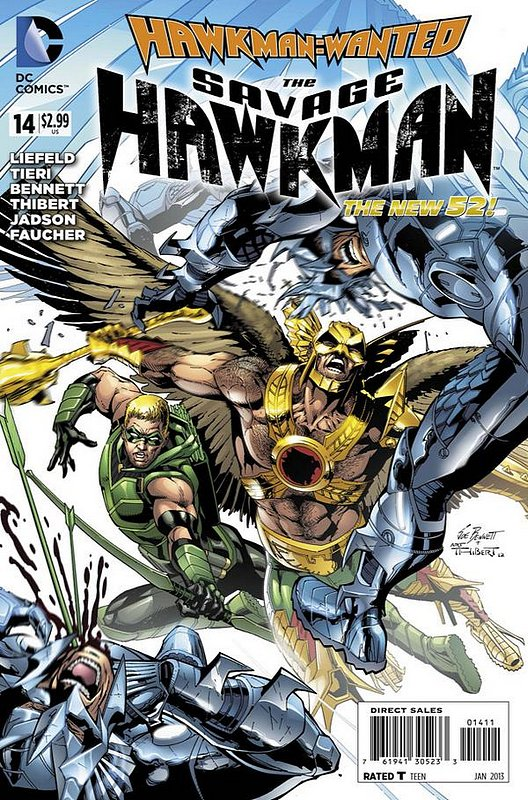 Cover of Savage Hawkman (Vol 1) #14. One of 250,000 Vintage American Comics on sale from Krypton!