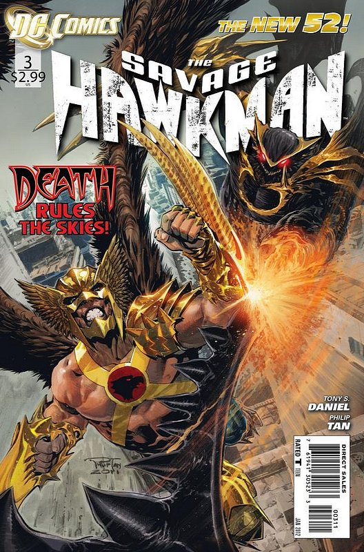 Cover of Savage Hawkman (Vol 1) #3. One of 250,000 Vintage American Comics on sale from Krypton!