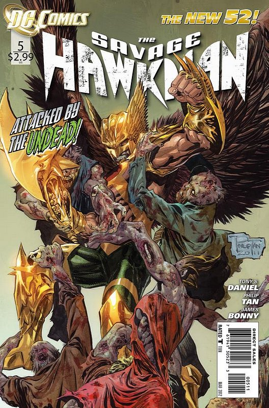 Cover of Savage Hawkman (Vol 1) #5. One of 250,000 Vintage American Comics on sale from Krypton!