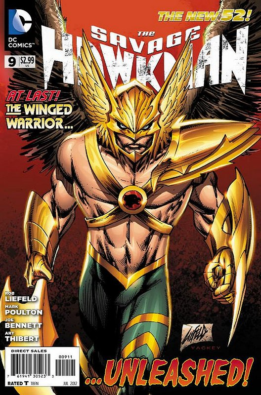 Cover of Savage Hawkman (Vol 1) #9. One of 250,000 Vintage American Comics on sale from Krypton!