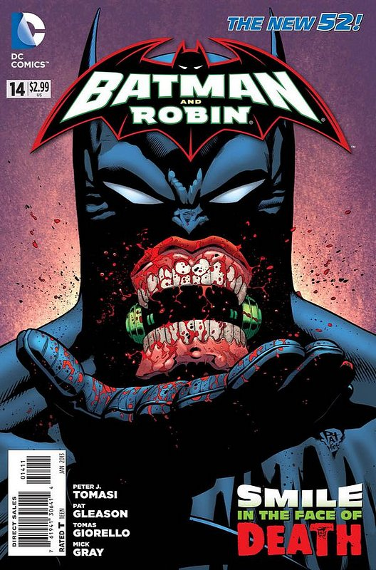 Cover of Batman and Robin (Vol 2) #14. One of 250,000 Vintage American Comics on sale from Krypton!