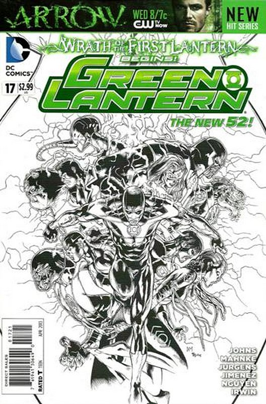 Cover of Green Lantern (Vol 5) #17. One of 250,000 Vintage American Comics on sale from Krypton!