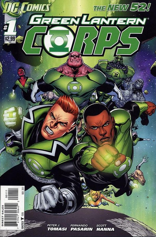 Cover of Green Lantern Corps (Vol 2) #1. One of 250,000 Vintage American Comics on sale from Krypton!
