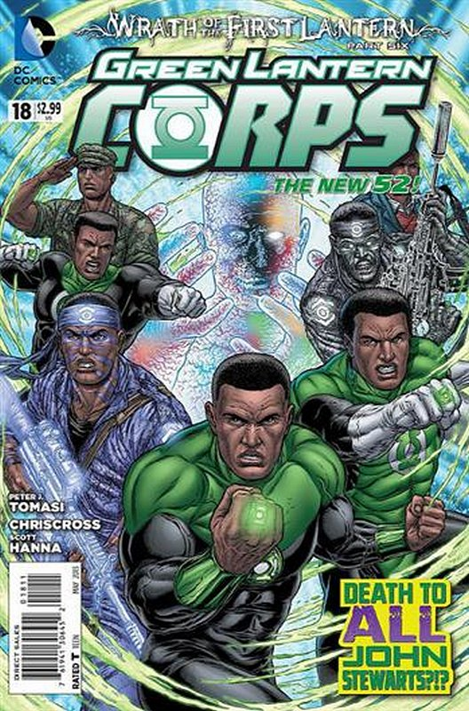 Cover of Green Lantern Corps (Vol 2) #18. One of 250,000 Vintage American Comics on sale from Krypton!
