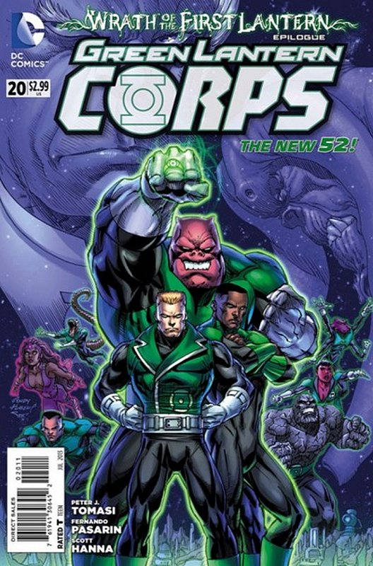 Cover of Green Lantern Corps (Vol 2) #20. One of 250,000 Vintage American Comics on sale from Krypton!