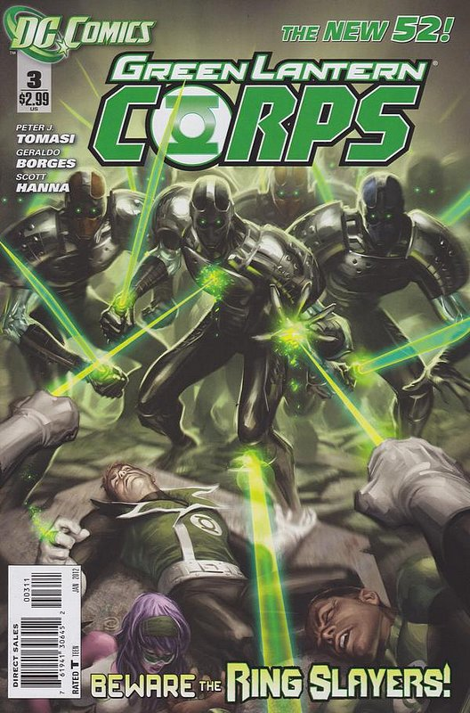 Cover of Green Lantern Corps (Vol 2) #3. One of 250,000 Vintage American Comics on sale from Krypton!