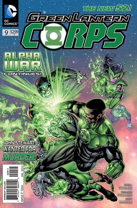 Cover of Green Lantern Corps (Vol 2) #9. One of 250,000 Vintage American Comics on sale from Krypton!