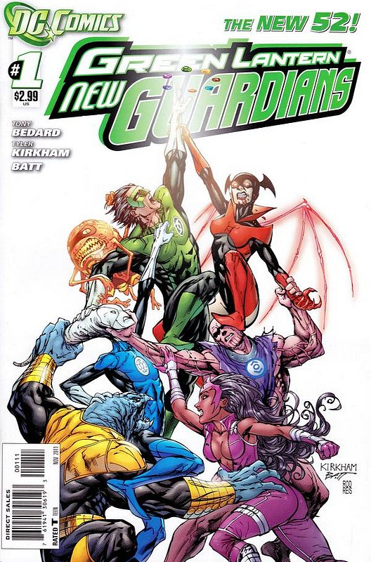Cover of Green Lantern: New Guardians (Vol 1) #1. One of 250,000 Vintage American Comics on sale from Krypton!