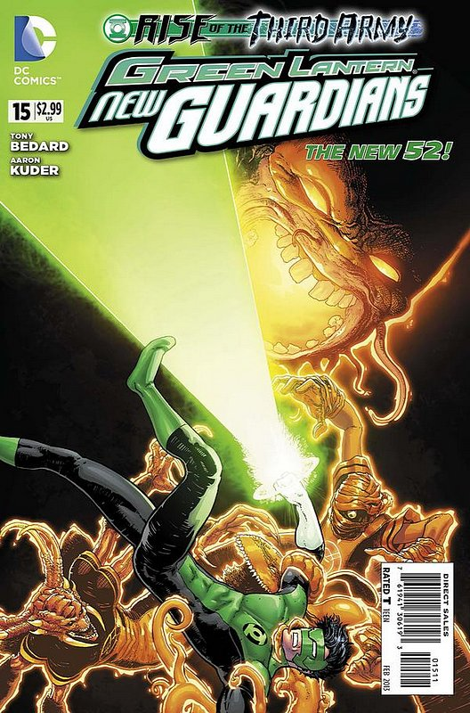 Cover of Green Lantern: New Guardians (Vol 1) #15. One of 250,000 Vintage American Comics on sale from Krypton!