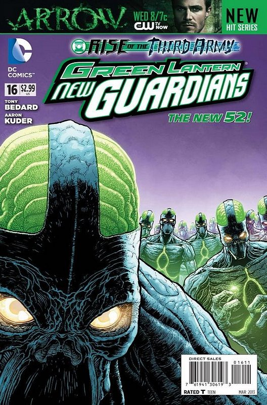 Cover of Green Lantern: New Guardians (Vol 1) #16. One of 250,000 Vintage American Comics on sale from Krypton!