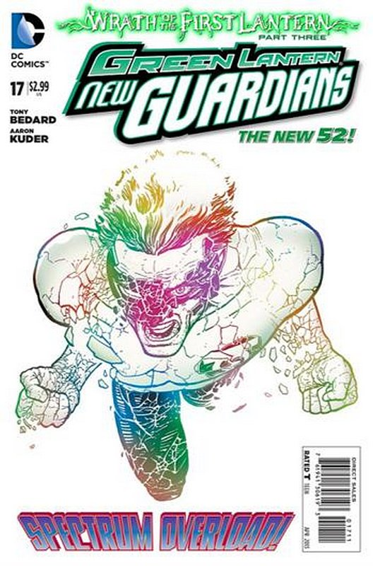 Cover of Green Lantern: New Guardians (Vol 1) #17. One of 250,000 Vintage American Comics on sale from Krypton!