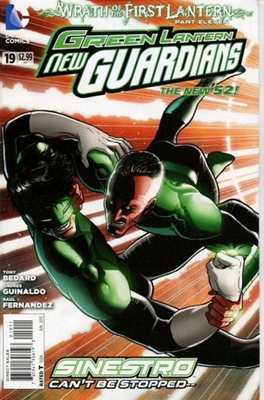 Cover of Green Lantern: New Guardians (Vol 1) #19. One of 250,000 Vintage American Comics on sale from Krypton!