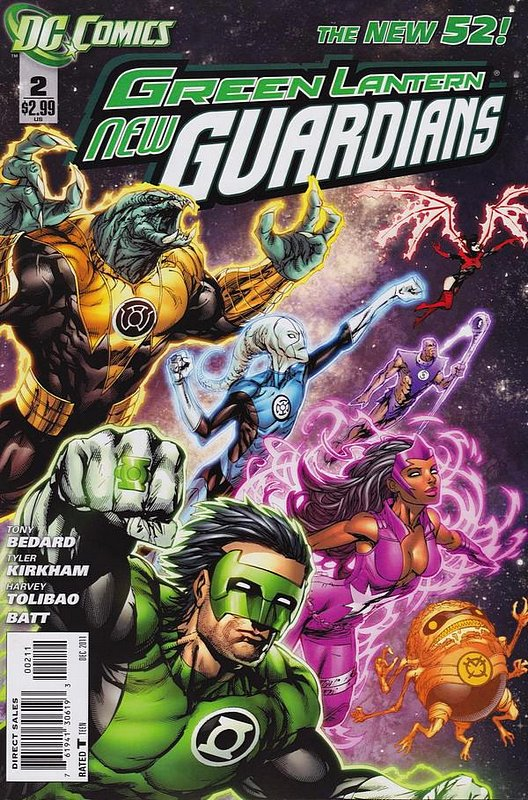 Cover of Green Lantern: New Guardians (Vol 1) #2. One of 250,000 Vintage American Comics on sale from Krypton!