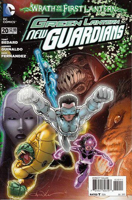 Cover of Green Lantern: New Guardians (Vol 1) #20. One of 250,000 Vintage American Comics on sale from Krypton!