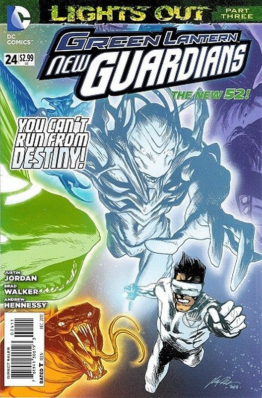 Cover of Green Lantern: New Guardians (Vol 1) #24. One of 250,000 Vintage American Comics on sale from Krypton!