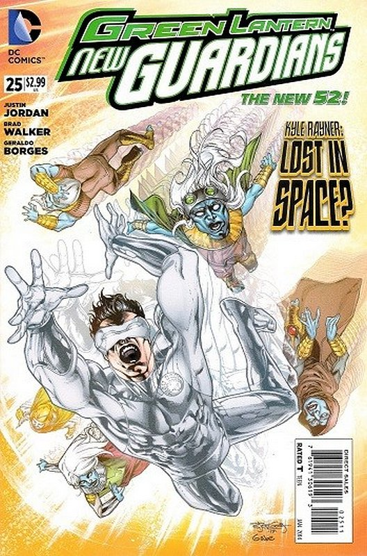 Cover of Green Lantern: New Guardians (Vol 1) #25. One of 250,000 Vintage American Comics on sale from Krypton!