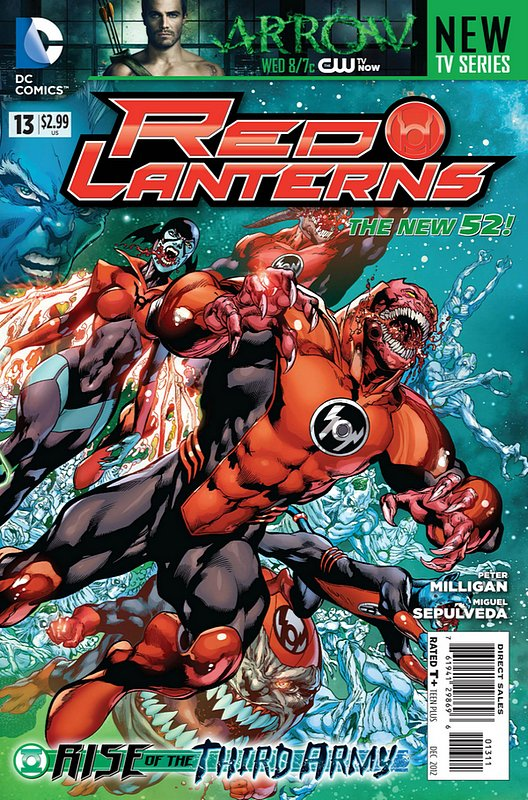 Cover of Red Lanterns (Vol 1) #13. One of 250,000 Vintage American Comics on sale from Krypton!