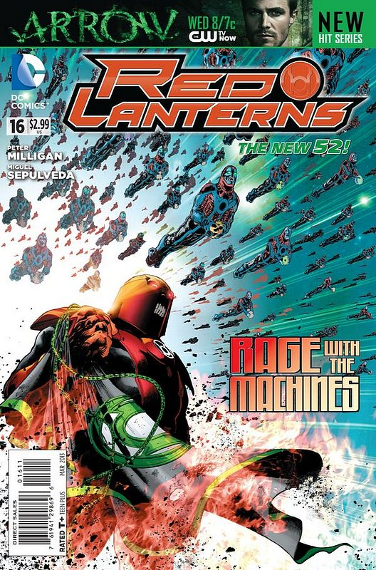 Cover of Red Lanterns (Vol 1) #16. One of 250,000 Vintage American Comics on sale from Krypton!