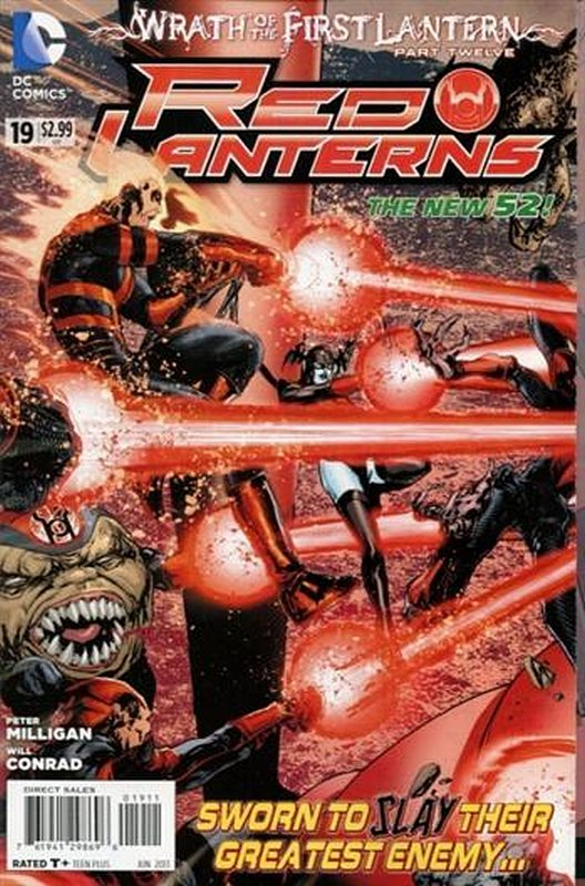 Cover of Red Lanterns (Vol 1) #19. One of 250,000 Vintage American Comics on sale from Krypton!