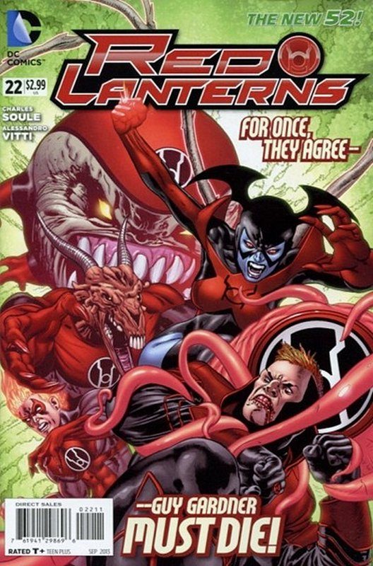 Cover of Red Lanterns (Vol 1) #22. One of 250,000 Vintage American Comics on sale from Krypton!