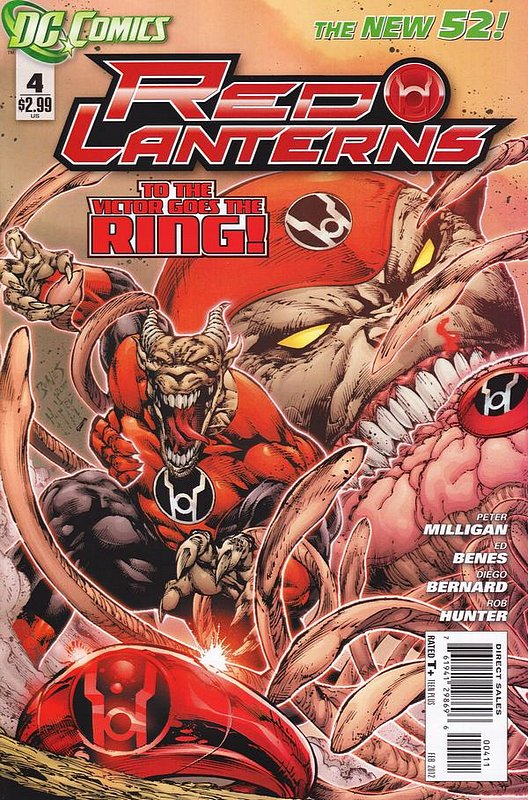 Cover of Red Lanterns (Vol 1) #4. One of 250,000 Vintage American Comics on sale from Krypton!