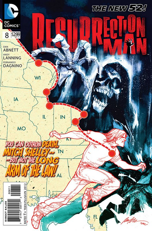 Cover of Resurrection Man (Vol 2) #8. One of 250,000 Vintage American Comics on sale from Krypton!