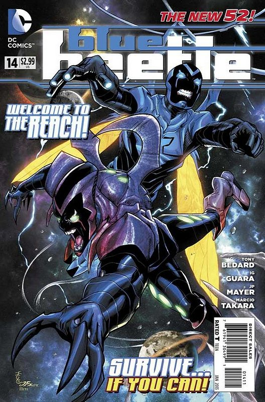 Cover of Blue Beetle (DC Vol 3) #14. One of 250,000 Vintage American Comics on sale from Krypton!