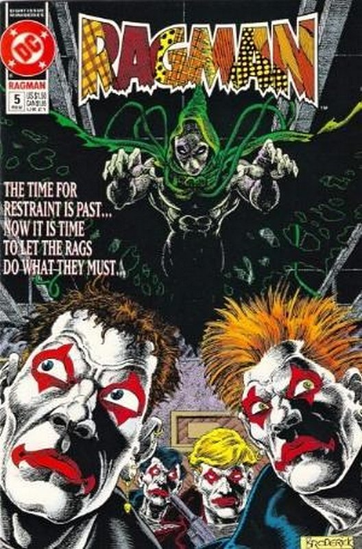 Cover of Ragman (1991 Ltd) #5. One of 250,000 Vintage American Comics on sale from Krypton!