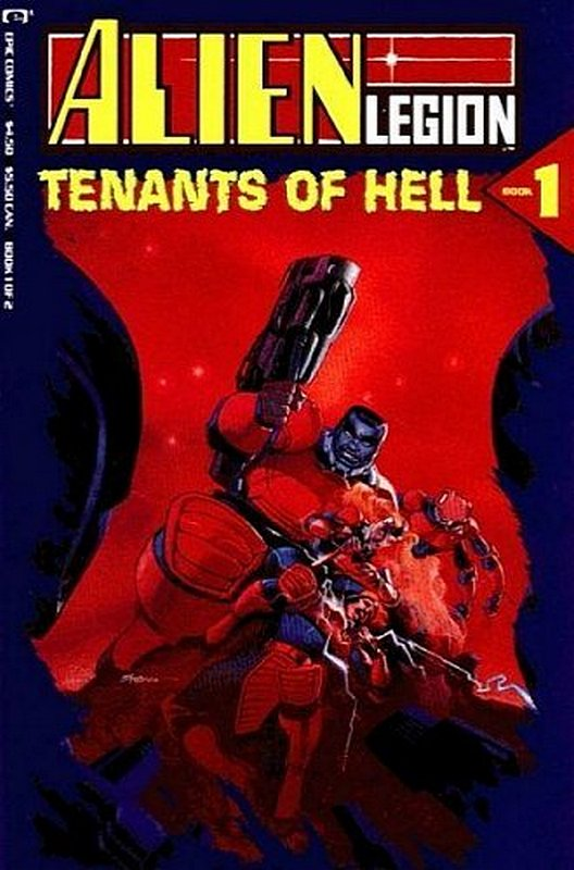 Cover of Alien Legion: Tenants of Hell (1991 Ltd) #1. One of 250,000 Vintage American Comics on sale from Krypton!
