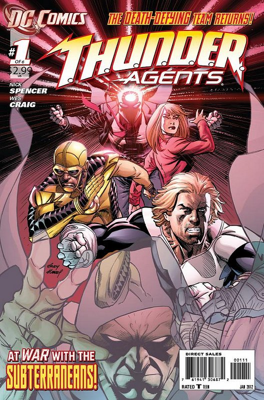 Cover of Thunder Agents (2011 Ltd) #1. One of 250,000 Vintage American Comics on sale from Krypton!