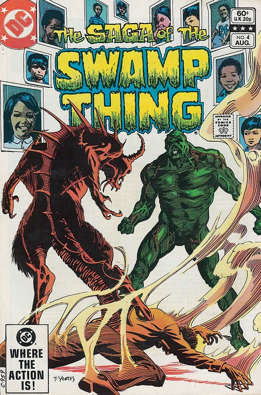 Cover of Swamp Thing (Vol 2) #4. One of 250,000 Vintage American Comics on sale from Krypton!