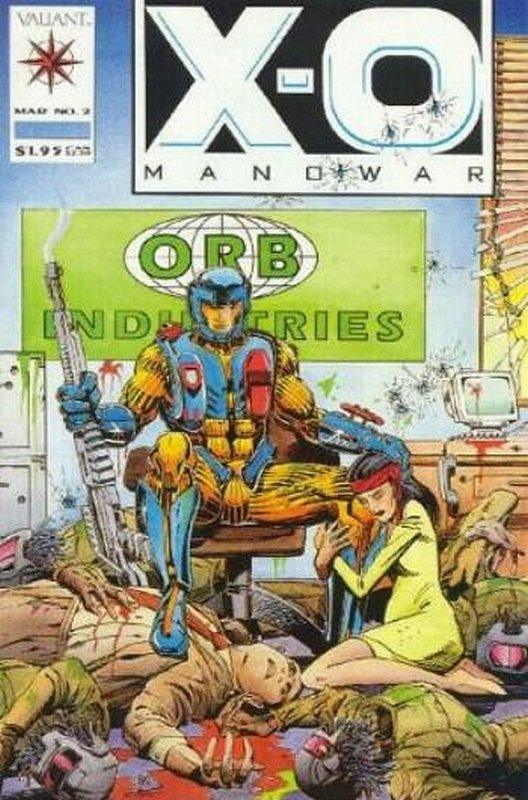 Cover of X-O Manowar (Vol 1) #2. One of 250,000 Vintage American Comics on sale from Krypton!