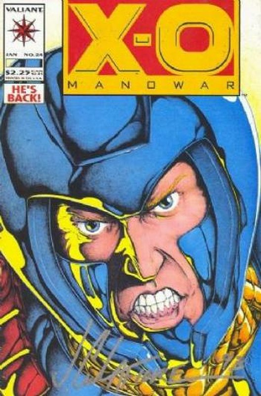 Cover of X-O Manowar (Vol 1) #24. One of 250,000 Vintage American Comics on sale from Krypton!